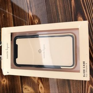 iPhone X case new box damaged black gold
